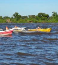En Esquina más de 300 embarcaciones partieron en busca del preciado pacú
