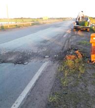 Preocupación ante el pésimo estado de la ruta Nº 123 en la zona del estero Batel
