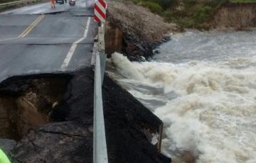 Así está el puente sobre el Arroyo Ibirucuá (Video)
