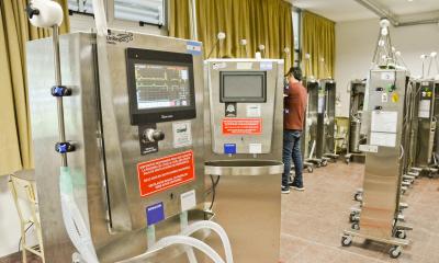Aumenta el número de respiradores en uso en el Hospital de Campaña.