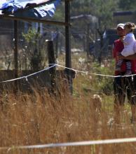 Desalojo y resistencia de los okupas en el asentamiento en las 550 viviendas