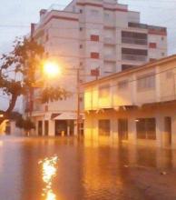 En la costa brasileña hay ciudades inundadas hasta el pleno centro
