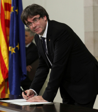 El presidente catalán amagó con declarar la independencia