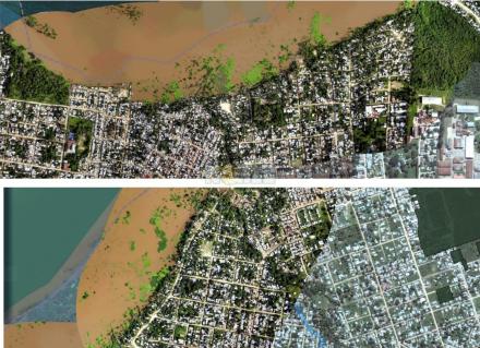 imagen satelital ZN en periodo de Inundaciones 2014nFuente Municipalidad de Corrientes..jpg