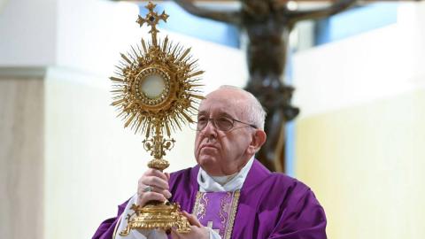 El Papa denunció una casta pecadora en la Curia