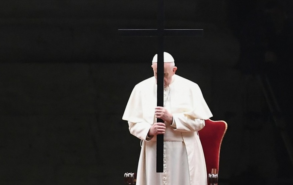 El papa Francisco presidió la ceremonia de la Pasión de Cristo