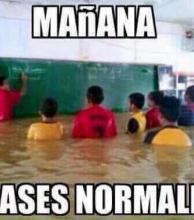 La lluvia contada en memes con humor