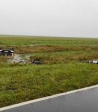 Tres muertos en un vuelco en la Ruta Provincial 5.