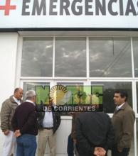 Avanzan las obras en el sector de emergencias del hospital de Goya