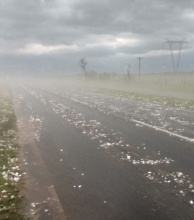 A partir del mediodía se esperan abundantes lluvias, viento y granizo para la región