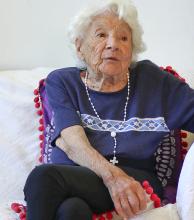 """A los 105 años, Blanca asegura que """"con coraje y con fe todo se puede"""""""