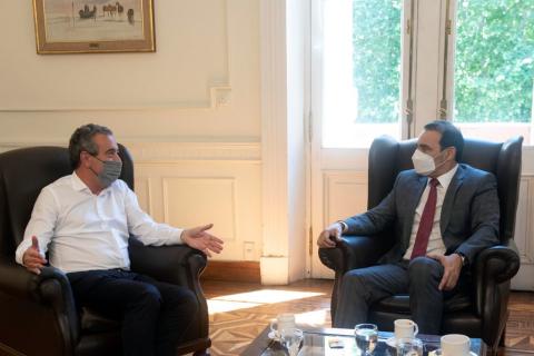 Rosario: Gustavo Valdés se reunió con el intendente Javkin