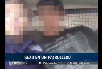 Dos policías se filmaron teniendo sexo en un patrullero