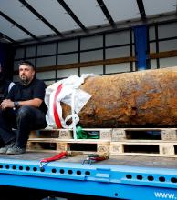 Desactivan una bomba de la Segunda Guerra Mundial en Frankfurt