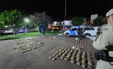 Corrientes: Prefectura secuestró más de 150 kilos de marihuana y se suman a los más de 256 kilos incautados ayer