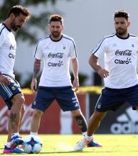 La selección argentina tuvo su segundo ensayo con la presencia de Lionel Messi