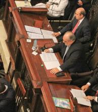 El fin del colombismo: última apertura de sesiones en la Legislatura provincial