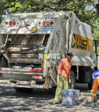 Servicio normal de recolección de los residuos domiciliarios
