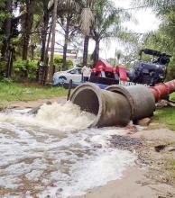 Santa Ana: más familias evacuadas y avanzan con las obras hídricas