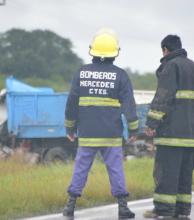 Un hombre murió al chocar el camión que manejaba contra otro en la Ruta 123