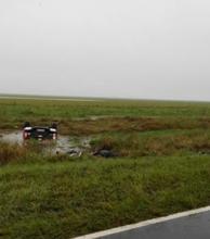 Ruta 5: tres muertos en despiste y vuelco durante un temporal