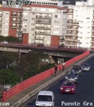 El Puente General Belgrano ya tiene cámaras y se puede acceder a imágenes en vivo