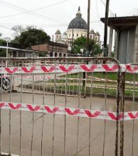 Aprontan reparación de hundimientos en el sector lindante con la Basílica de Itatí