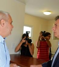 Ríos informó a Macri algunas de las obras en Santa Catalina
