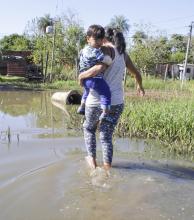 Control sanitario a los inundados, ante patologías adversas por la crisis hídrica