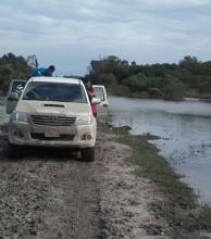 Críticas del intendente Valenzuela a los que hacen política con los inundados