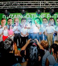Frigerio cerró campaña en Ituzaingó en apoyo a Burna