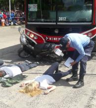 Organizaron actividades para sensibilizar y bajar los índices de accidentes